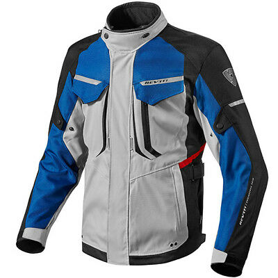 Rev-it Rev'it Safari Waterproof Touring Jacket Motorbike Motorcycle Silver Blue
