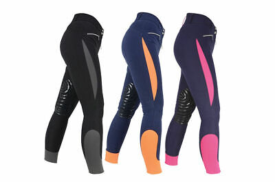 HyPERFORMANCE Sports Active Silicone Grip Knee Patch Horse Riding Breeches