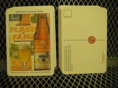 NEW BELGIUM BREWING Co ~ NEW LOT of 20 Snapshot Wheat Beer Coasters Post Cards