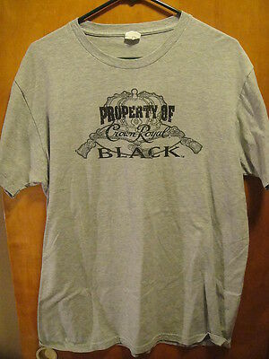 Property of Crown Royal Black Promo T Shirt Gray Large