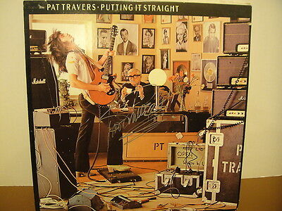 Pat Travers Putting it Straight Signed LP 1977 Boom Boom Out Go The Lights!