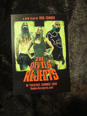 The Devils Rejects Promo Card Otis Sid Haig JT Spaulding SIGNED  w/ PROOF Zombie