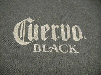Cuervo Black Tequilla T Shirt Punk Large Black Family Owned Since 1795
