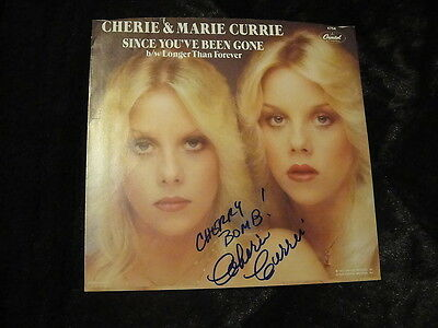 "Cherie Currie The Runaways 45 Record Sleeve 1979 SIGNED ""Cherry Bomb!"" w/ PROOF"