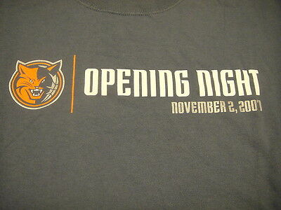 Charlotte Bobcats NBA 2007 Opening Night T Shirt XL Lowes BC/BS Sponsors