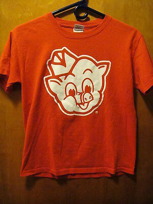 "Piggly Wiggly ""I'm Big on the Pig"" T Shirt Youth Medium Red Pig Wearing Deli Hat"
