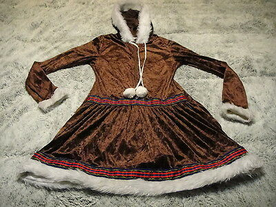 ICE PRINCESS Costume ~ Womens MED ~ Hooded Short Dress SEXY HOT !