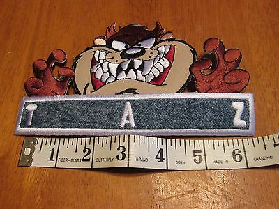 Looney Tunes (Taz)Patch Embroidered Iron On 6.5 Inches Long Sweet Looking