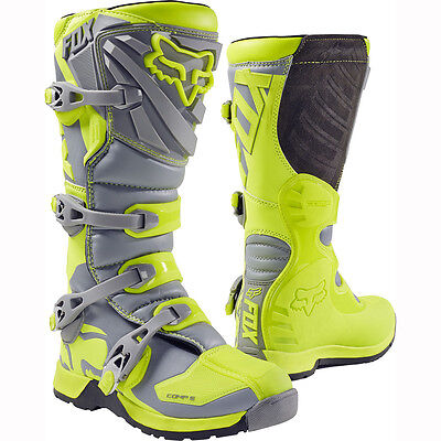 2017 Fox Racing Flo Yellow Comp 5 Boot Motocross MX Offroad Boots ATV Adult Mens