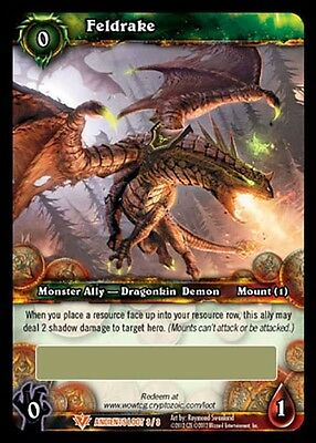 World Of Warcraft Wow Tcg : Feldrake Flying Mount Loot Card Unscratched