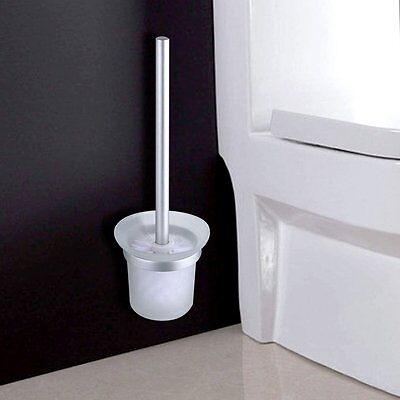 Home Bathroom Plastic Toilet Bowl Cleaning Brush and Caddy Brush Holder Set