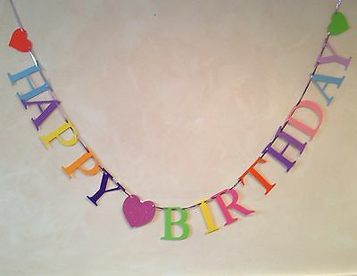 Happy Birthday Party Banner Bunting Decoration