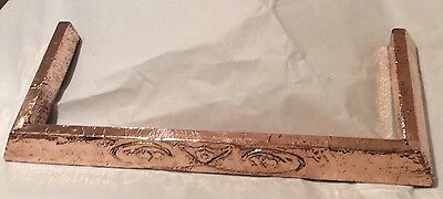 Arts & Crafts Copper Fire Place Fender With Raised Design Circa 1900