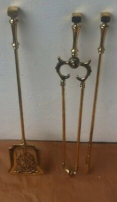 Victorian Vintage Brass Fire Iron Companion Set
