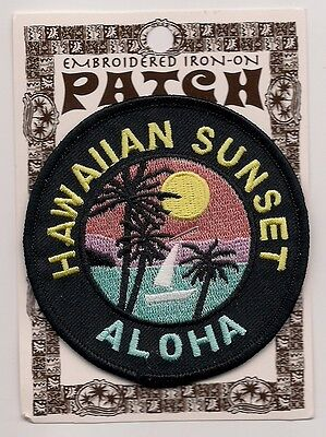 Souvenir Patch - State Of  Hawaii - Sunset