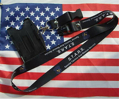 Hot Resident Evil STARS Special Tactics ID Holder Lanyard Neck Strap Card Holder