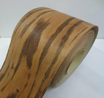 Real wood Veneer Tigerwood with Hot melt adhesive iron-on 30 cm Wide