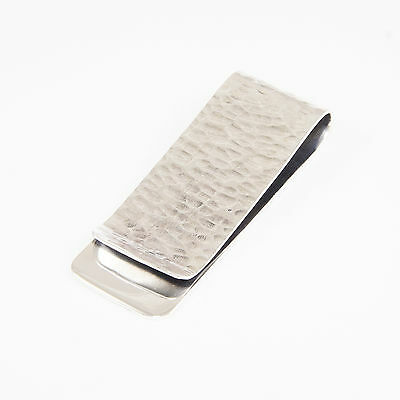 PLAIN HAND HAMMERED 925 STERLING SILVER MONEY CLIP tp-m5