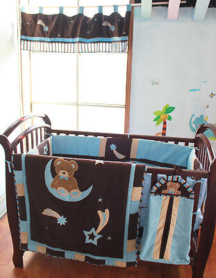 NEW Baby Cot Bedding Sets 7 PCs - Quilt Bumper Fitted Sheet 238-7