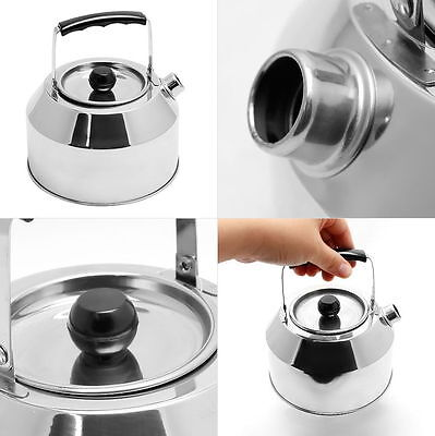 Stainless Steel Kettle Ideal for Camping Solid & Light Holds 1 Liter