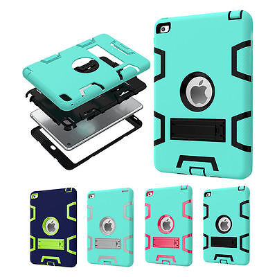 Heavy Duty Kids Safe Shockproof Rubber Hard Stand Case Cover for Apple iPad