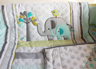 NEW Baby Cot Bedding Sets 8 PCs - Quilt Bumper Fitted Sheet Blanket 206-8