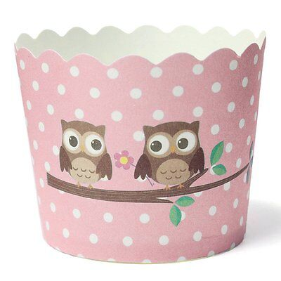 Cupcake Fest Papier Muffin Cup 6*4.5*5CM 50Stueck-Eulenmuster
