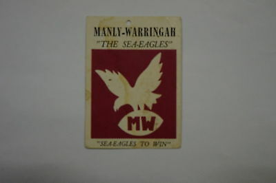1968 Scanlens Rugby League Manly Warringah Sea Eagles Crest