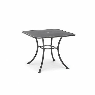 Orzora Outdoor Garden Furniture Patio 90cm Square All Weather Metal Mesh Table