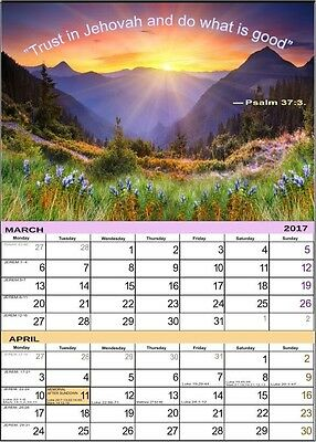 CALENDAR  Of Jehovah's Witnesses a wall ~New_for 2017_NEW + Gift