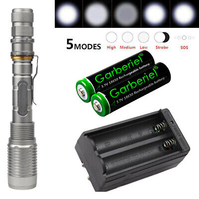 Ultrafire 90000LM T6 LED Rechargeable Tactical Flashlight 18650 Torch US Charger