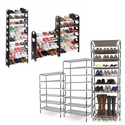 4/6/8/10 Tier Shoe Storage Shelf Rack Stand Organizer 12/18/24/30/50 Pairs Shoes