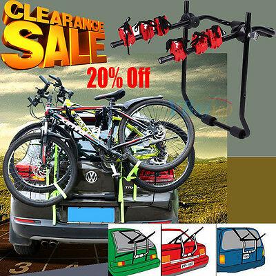 New 3 Bicycle Carrier Car Rack Bike Cycle Universal Fits Most Cars Rear Mount Uk