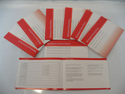 Replacement Generic Service History Book Suitable For Subaru  Red