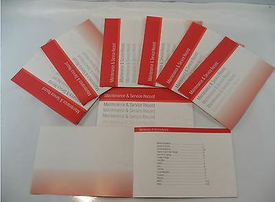 Replacement Generic Service History Book Suitable For Mazda  Red