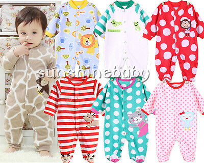Baby clothes infant  baby boy girl fleece party daily jumpsuit fall bodysuit