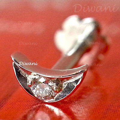 Engagement & Wedding Bridal & Wedding Party Jewelry Trend Mark 100% Real Diamonds Butterfly Shape Nose Lip Labret Stud Screw Ring Pin 14k Gold
