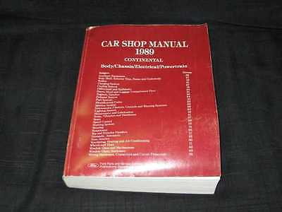 1989 Ford Lincoln Continental Shop Manual