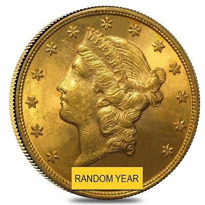 $20 Gold Double Eagle Liberty Head - Brilliant Uncirculated BU (Random Year)