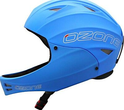 Ozone Nutshell Helmet Blue with Chin Guard for Paragliding, Hang Gliding Size XS