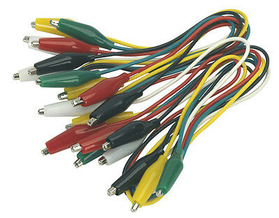 VS222 Sealey Jumper Test Lead Set 5 Pairs - 450mm [Electrics]
