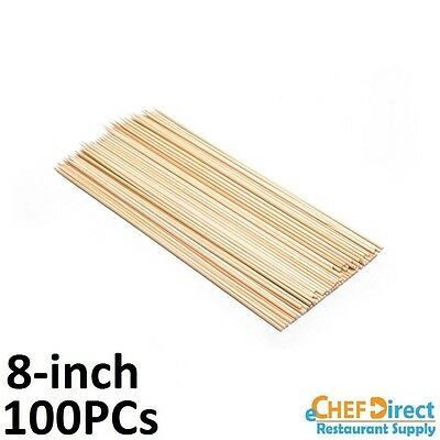 "(100 Pieces) 8"" Wooden Bamboo Skewers"