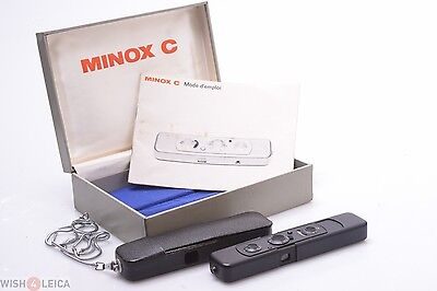 Minty*   Minox C Black Subminiature Camera W/ Ready Case, Display & Chain