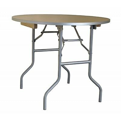 "36"" Round Wood Folding Tables, Banquet, School, Church, Hotel and Wedding Table"