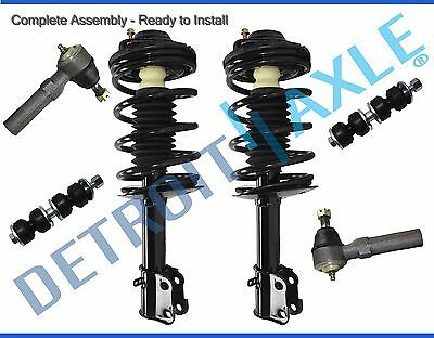 Rear Driver and Passenger Side Complete Strut /& Spring Assembly for 1996 1997 1998 1999 2000 Honda Civic Detroit Axle 2 Both