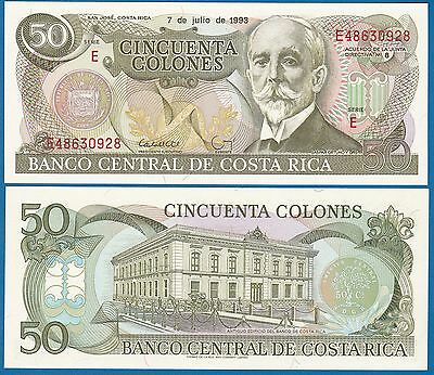 Costa Rica 50 Colones P 257 a 1993 UNC Low Shipping! Combine FREE! (P-257a)