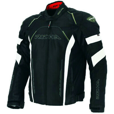 Richa Falcon Thermal Vented Waterproof Motorcycle Jacket - Black / White