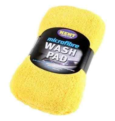 (Q2329) Kent Car Care Microfibre Sponge Wash Pad Cleaning Washing Valeting