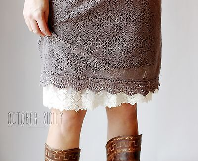 Half Slip Lace Dress Skirt Extender *style 3*-- 3 Colors, Sizes S-3XL (2-20)