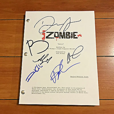 iZOMBIE SIGNED FULL PILOT SCRIPT BY +3 CAST MEMBERS - DAVID ANDERS ALY MICHALKA